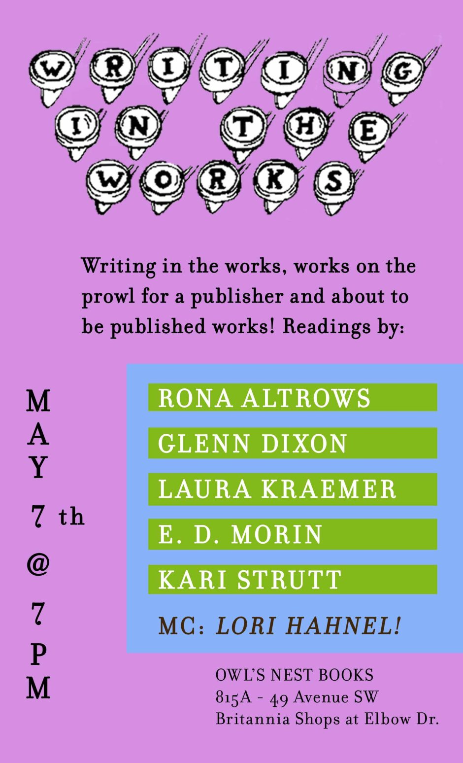 Upcoming: Writing in the Works 2014
